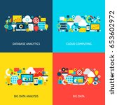 big data concepts. flat design... | Shutterstock .eps vector #653602972