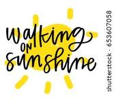 walking on sunshine | Shutterstock .eps vector #653607058
