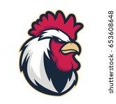 chicken rooster head mascot  | Shutterstock .eps vector #653608648