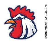 chicken rooster head mascot | Shutterstock .eps vector #653608678