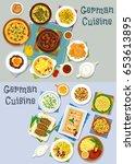 german cuisine lunch icon set....   Shutterstock .eps vector #653613895