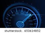 car speedometer. vector techo... | Shutterstock .eps vector #653614852