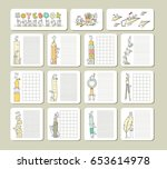 collection of cute blocks for... | Shutterstock .eps vector #653614978