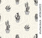 Succulents And Cacti Plants On...