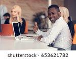 multiracial contemporary... | Shutterstock . vector #653621782