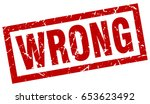 square grunge red wrong stamp | Shutterstock .eps vector #653623492
