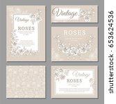 classic wedding vintage... | Shutterstock .eps vector #653624536