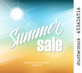 summer sale banner with hand... | Shutterstock .eps vector #653626516