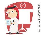 arabian businessman with bad...   Shutterstock .eps vector #653628886