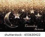 ramadan mubarak design. sparkle ... | Shutterstock . vector #653630422