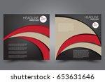 square flyer template. brochure ... | Shutterstock .eps vector #653631646