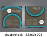 square flyer template. brochure ... | Shutterstock .eps vector #653636008