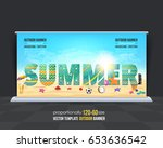 outdoor banner summer season... | Shutterstock .eps vector #653636542