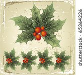 hand drawn holly berry   Shutterstock .eps vector #65364226
