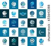 vector logo globe | Shutterstock .eps vector #653643388