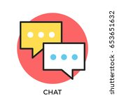 Chat Icon. Two Speech Bubbles....