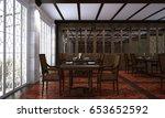 3d rendering interior design of ... | Shutterstock . vector #653652592