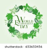 world environment day card... | Shutterstock .eps vector #653653456