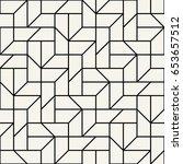 abstract geometric grid art... | Shutterstock .eps vector #653657512