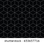 sacred geometry grid graphic... | Shutterstock .eps vector #653657716