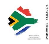 flag of south africa  brush... | Shutterstock .eps vector #653660176