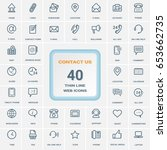 contact us icon set  vector... | Shutterstock .eps vector #653662735