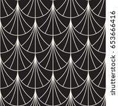 vector seamless rounded lines... | Shutterstock .eps vector #653666416