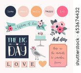 love stickers. signs  symbols ... | Shutterstock .eps vector #653674432