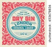 liquor label for packing | Shutterstock .eps vector #653678836