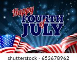 happy fourth of july... | Shutterstock .eps vector #653678962