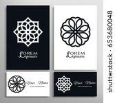 mandala sign symbol  monochrome ... | Shutterstock .eps vector #653680048