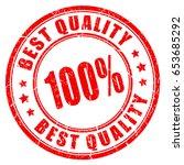 best quality guarantee rubber... | Shutterstock .eps vector #653685292