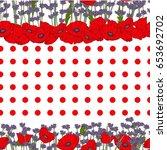 seamless vector pattern.... | Shutterstock .eps vector #653692702