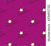 seamless vector pattern.sign ... | Shutterstock .eps vector #653692732