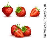 vector realistic sweet and... | Shutterstock .eps vector #653697958