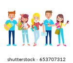 front  side  back view animated ... | Shutterstock .eps vector #653707312
