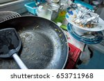 dirty kitchen  should be...   Shutterstock . vector #653711968