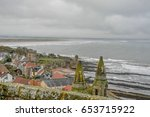 ancient ruined cathedral and...   Shutterstock . vector #653715922