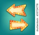 neon marquee  vector retro... | Shutterstock .eps vector #653724778