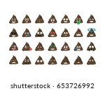 set of shit emoticon vector... | Shutterstock .eps vector #653726992