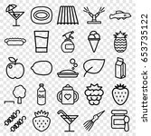 fresh icons set. set of 25... | Shutterstock .eps vector #653735122