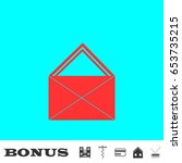 mail icon flat. simple red...