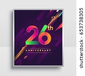 26th years anniversary logo ... | Shutterstock .eps vector #653738305