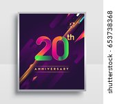 20th years anniversary logo ... | Shutterstock .eps vector #653738368