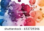 abstract poligonal background.... | Shutterstock .eps vector #653739346