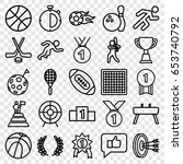 competition icons set. set of... | Shutterstock .eps vector #653740792