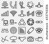 connect icons set. set of 25... | Shutterstock .eps vector #653743306