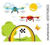 vector quadrocopter racing...   Shutterstock .eps vector #653743822