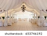 marquee for the celebration of... | Shutterstock . vector #653746192