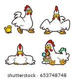 chicken character | Shutterstock . vector #653748748